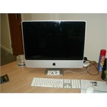 "Apple Imac PERSONAL COMPUTER with 24"" screen model no A125, EMC no 2211, serial no W89373BNZE4"