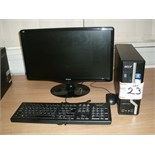 "Acer Veriton X480G PERSONAL COMPUTER with 21"" Viewsonic flat screen monitor, keyboard and mouse"