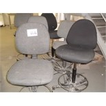 6 x fabric swivel OPERATORS CHAIRS
