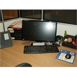 "Acer Veriton PERSONAL COMPUTER Windows 7 with 20"" Benq flat screen monitor, keyboard and mouse"