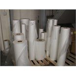 THERMAL LAMINATING FILM, approx 30 rolls 320mm - 1020mm on 3 pallets