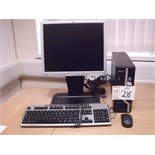 "Acer X480G PERSONAL COMPUTER with 17"" flat screen monitor, keyboard and mouse"