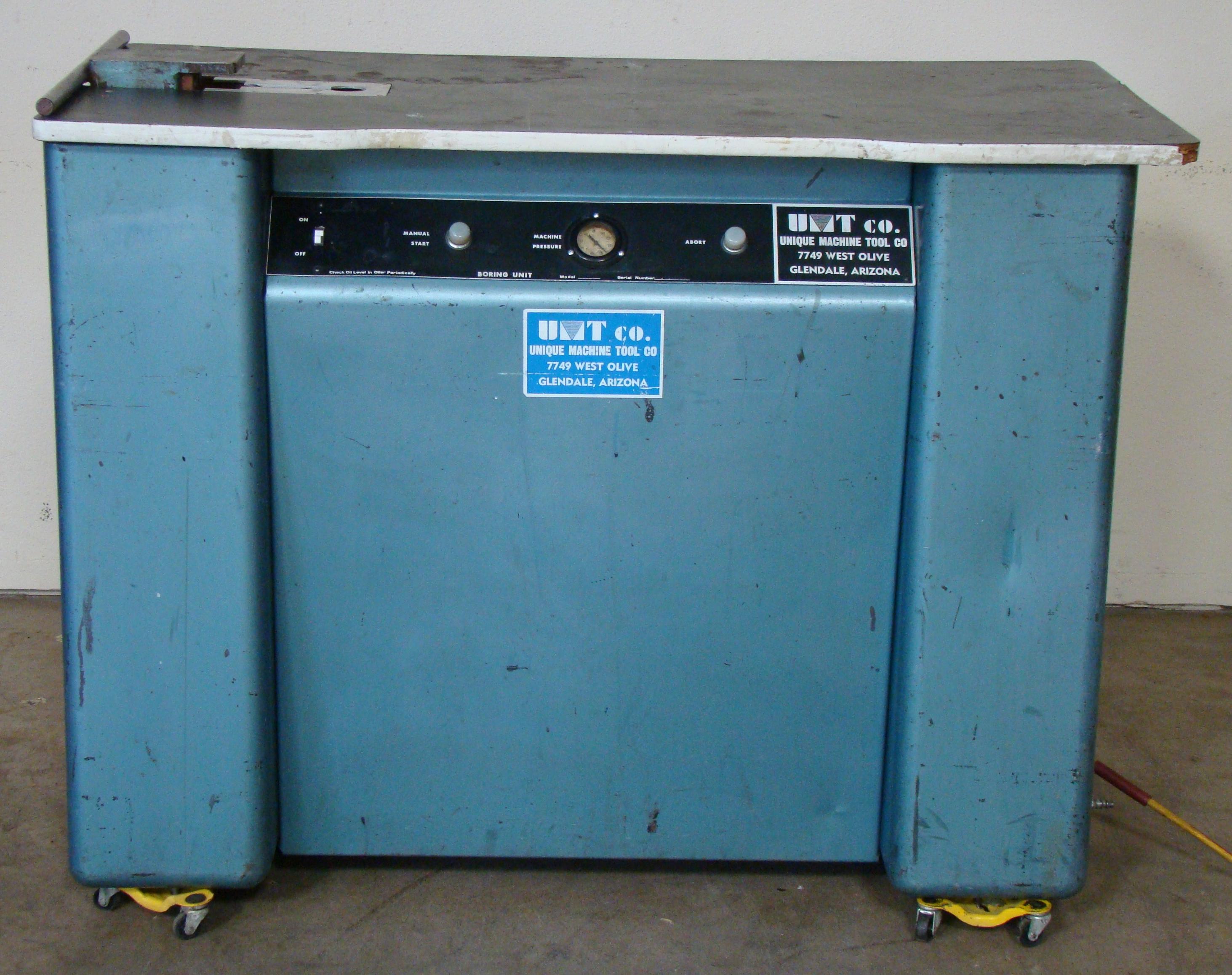 Unique Machine 1 Spindle Pocket Boring Machine, 115 Volts (On Wheels)