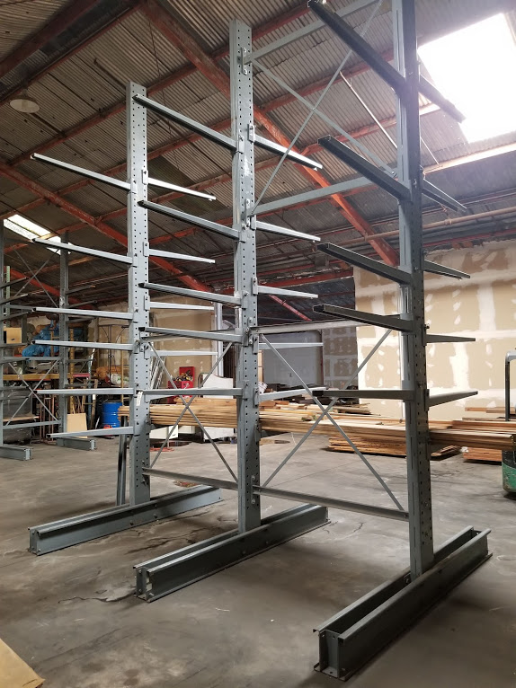 """Cantilever Racking/Shelving Double Sided 18' Uprights (Qty. 3) 48"""" Arms (Qty. 34) - Image 3 of 3"""