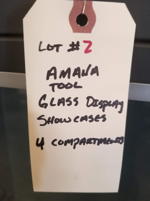 Amana Tool Glass Display Showcases (4 Compartments) - Image 3 of 3