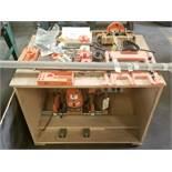 Blum MiniPress Hinge Boring Machine, 7 Spindle Line Boring Head + Bits, 230 Volts