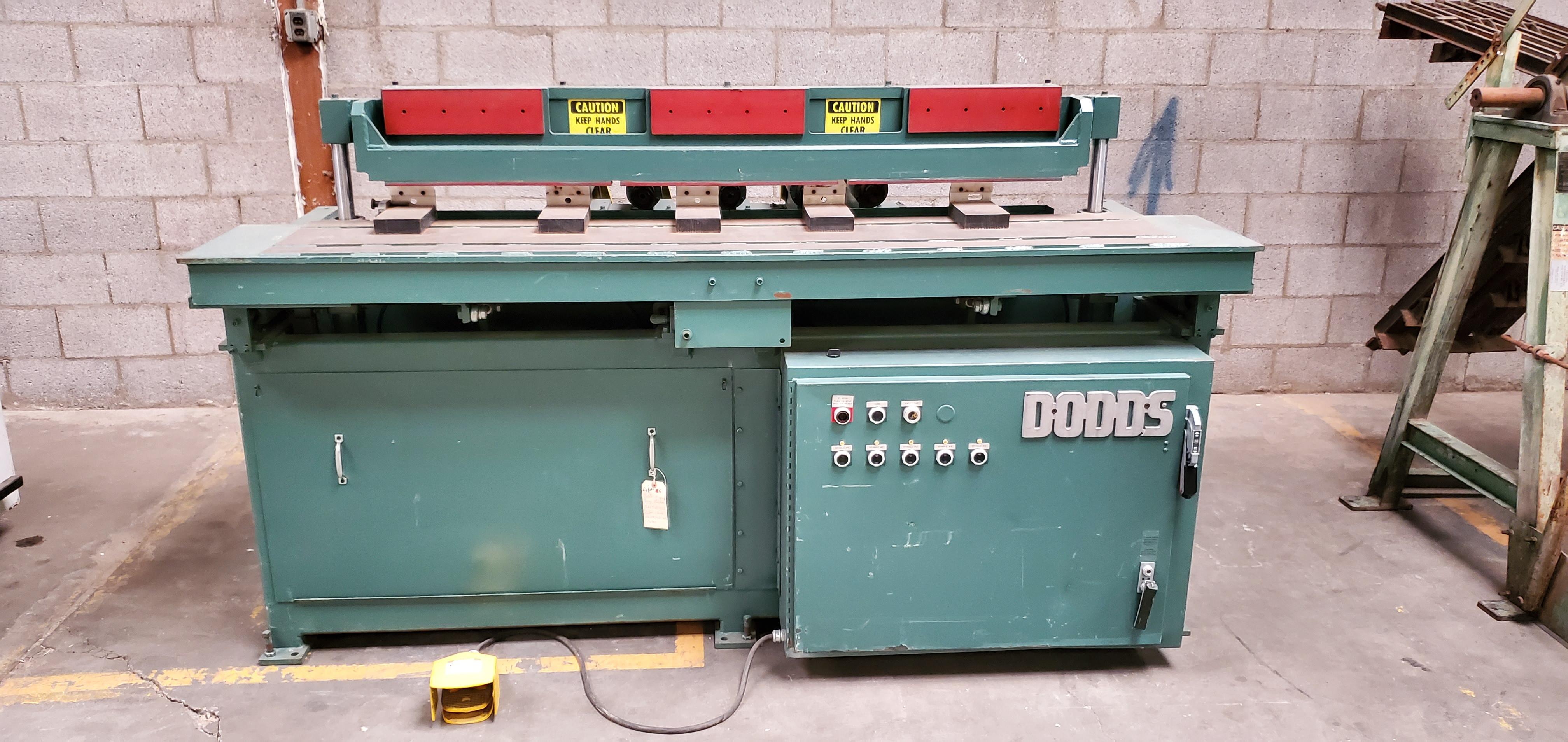 Dodds 5-Spindle Boring Machine, Model: B-802 Baldor 1.5HP 208-230/460 Volts (5 Motors)