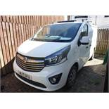 Vauxhall Vivaro Sportive, Registration ML17 OFU, Odometer 31,612 miles, Date of first registration