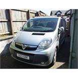 Vauxhall Vivaro Sportive, Registration SG13 GKK, Odometer 91,654 miles, MOT expired Date of first