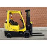 """HYSTER (2006) S60FT LPG FORKLIFT WITH 6000 LB. CAPACITY, 187"""" MAX. VERTICAL LIFT, 3 STAGE MAST, SIDE"""