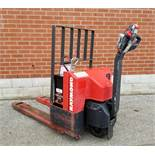 RAYMOND F40L 24V ELECTRIC WALK-BEHIND PALLET JACK WITH APPROX. 5500 LB. CAPACITY, 1176 HRS (RECORDED