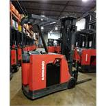 """RAYMOND (2010) 4200-C40TT 36V ELECTRIC REACH TRUCK WITH 3000 LB. CAPACITY, APPROX. 1000"""" MAX."""