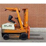 """TOYOTA 2FBCA20 36V ELECTRIC FORKLIFT WITH 3480 LB. CAPACITY, APPROX. 130"""" MAX. VERTICAL LIFT, 2"""