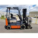 """TOYOTA (2013) 8FBCU32 48V ELECTRIC FORKLIFT WITH 6500 LB. CAPACITY, 131"""" MAX. VERTICAL LIFT, SIDE"""