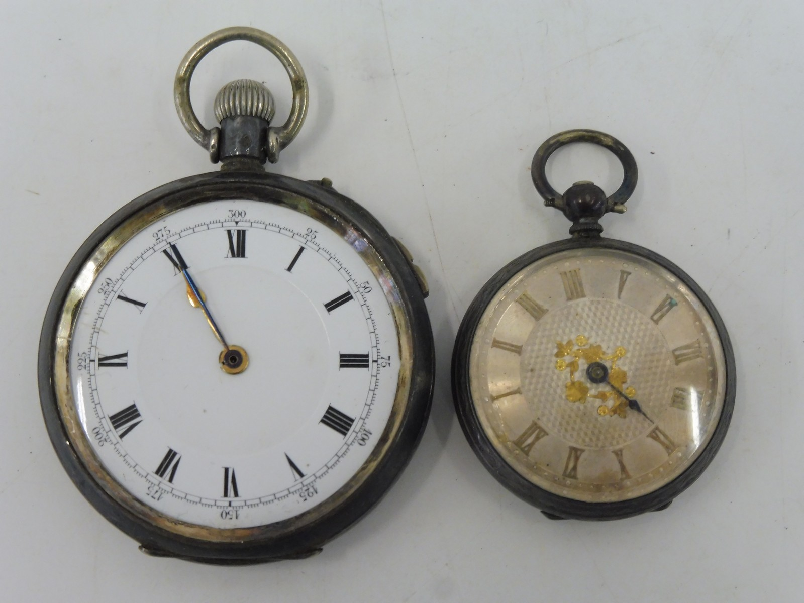 Lot 53 - Two silver cased pocket watches.