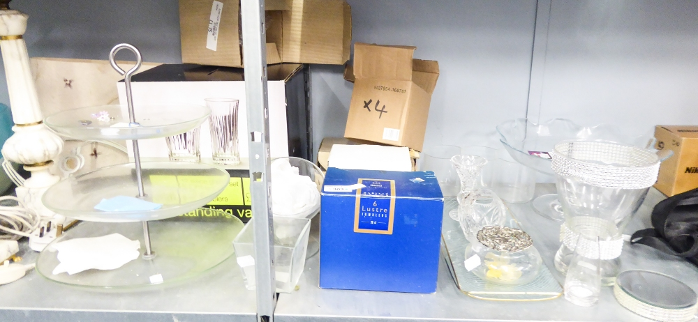 Lot 303 - A QUANTITY OF BOXED (AS NEW) GLASS WARES AND GIFTS VARIOUS
