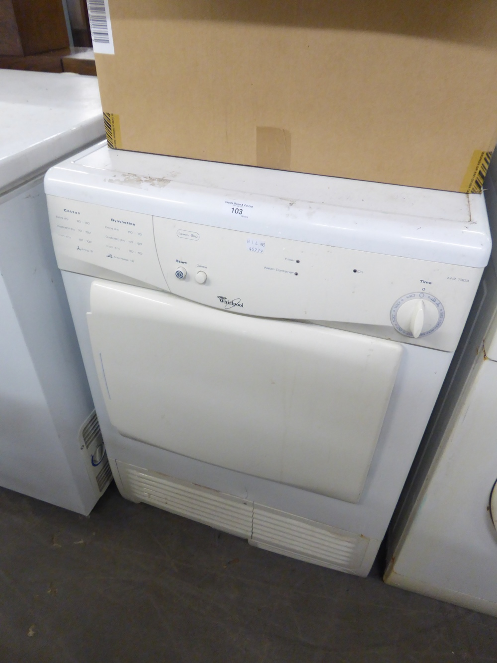 Lot 103 - A WHIRLPOOL TUMBLER DRYER