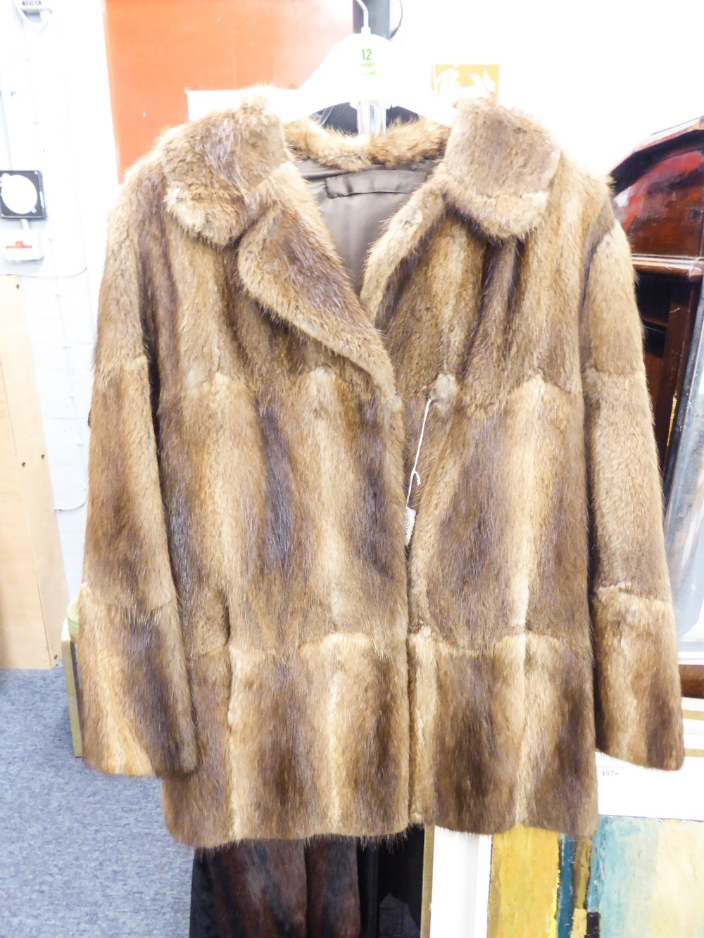 Lot 378 - QUANTITY OF LADIES FUR COATS TO INCLUDE; MUSQUASH, BLACK NUTRIA LAMB, BEAVER LAMB, DARK BROWN BEAVER