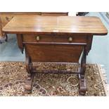 A Victorian rosewood work-table Condition Report: Available upon request
