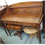 A Victorian mahogany washstand Condition Report: Available upon request