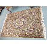 A Super Keshan wool rug, 197cm x 141cm Condition Report: Available upon request