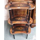 A small Victorian three-tier what not Condition Report: Available upon request