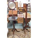 A mahogany washstand and a mahogany torchere (2) Condition Report: Available upon request