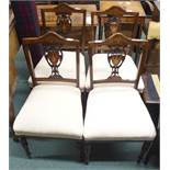 A set of four Victorian rosewood parlour chairs (4) Condition Report: Available upon request