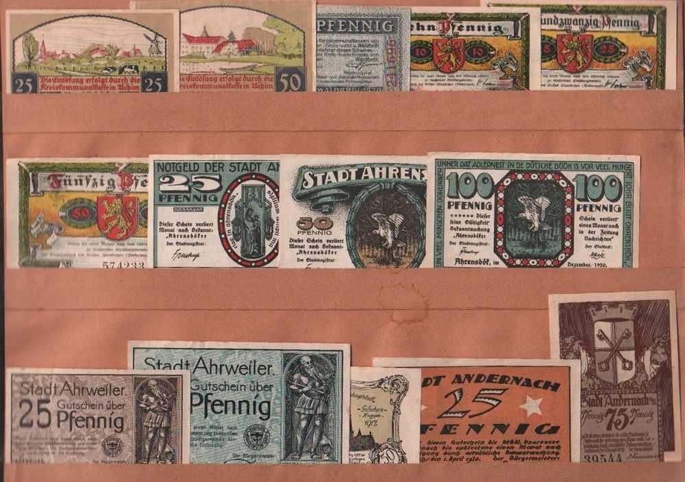 Lot 7 - Notgeld.Konvolut von 1450 farbigen Notgeldscheinen und Gutscheinen aus verschiedenen Städten und