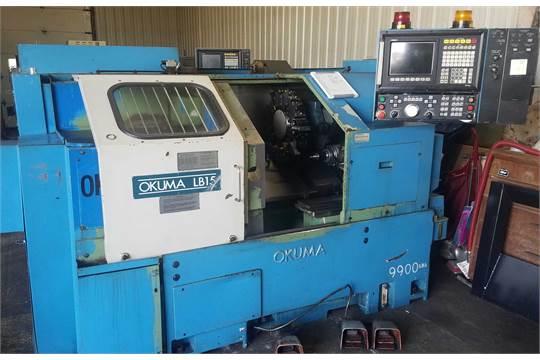 Okuma Model LB15 CNC Lathe, s/n 9768, Okuma 5020L CNC Control