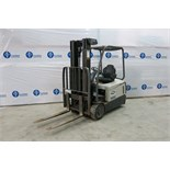 CROWN, SC5245-40, 3,700 LBS., 3 STAGE, 48V, BATTERY POWERED, FORKLIFT WITH CHARGER WITH SIDESHIFT,