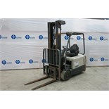 "CROWN, SC5245-40, 3,700 LBS., 48V, 3 STAGE, BATTERY POWERED, FORKLIFT, SIDESHIFT, 222"" MAXIMUM LIFT,"