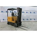 HYSTER, E40B, 3,500 LBS., 2 STAGE, 36V, BATTERY POWERED, FORKLIFT WITH CHARGER, 2,386 HOURS, S/N