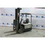 CROWN, SC5245-40, 3,700 LBS., 3 STAGE, BATTERY POWERED, FORKLIFT WITH CHARGER WITH SIDESHIFT, 222""