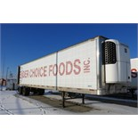 TRAILMOBILE, 53' REFRIGERATED VAN TRAILER, BARN DOORS, THERMO KING, SB-210, REEFER, 15,335 HOURS,