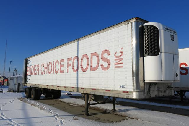 Lot 55 - TRAILMOBILE, 53' REFRIGERATED VAN TRAILER, BARN DOORS, THERMO KING, SB-210, REEFER, 15,335 HOURS,