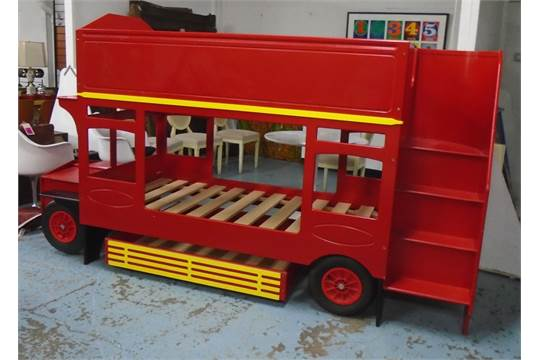 Double Decker London Bus Bunk Beds Original Omnibed By Wakefield Joinery 167cm H X 95cm 294c