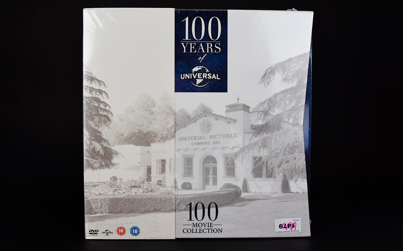 Lot 1479 - 100 Years of Universal Boxed 100 Movie D