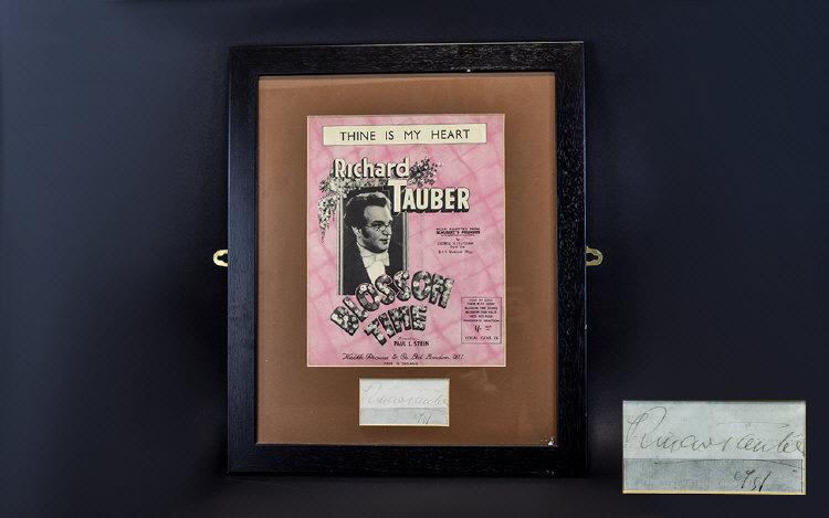 Lot 1375B - Autograph Interest Richard Tauber Autogr