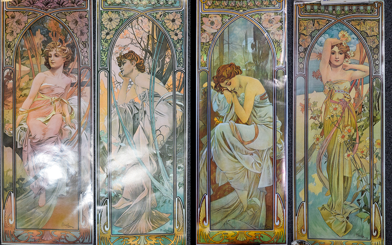 Lot 981 - A Collection Of Four Alphonse Mucha Post