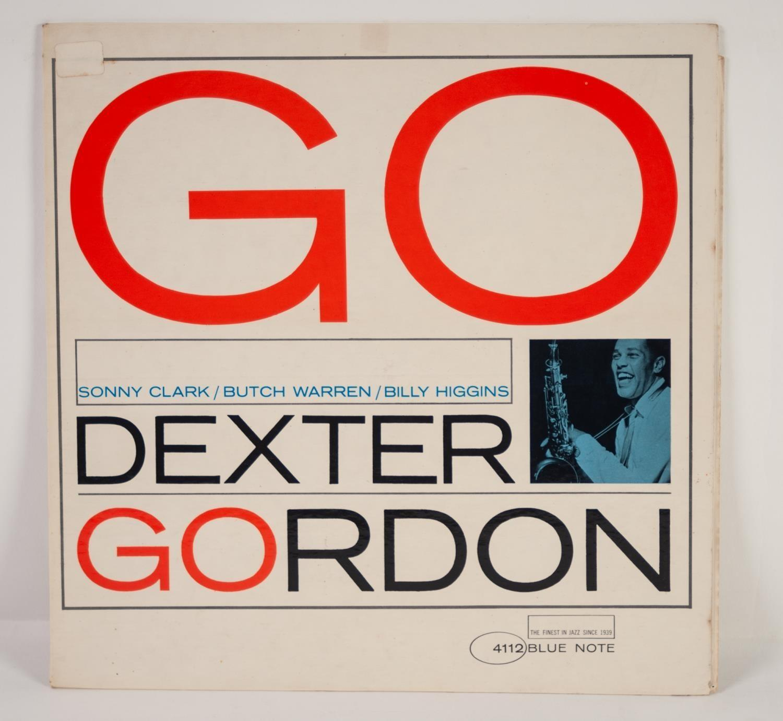 JAZZ, VINYL RECORDS-G IS FOR DEXTER GORDON- GO, with Sonny Clark, Butch Warren & Billy Higgins, BLUE