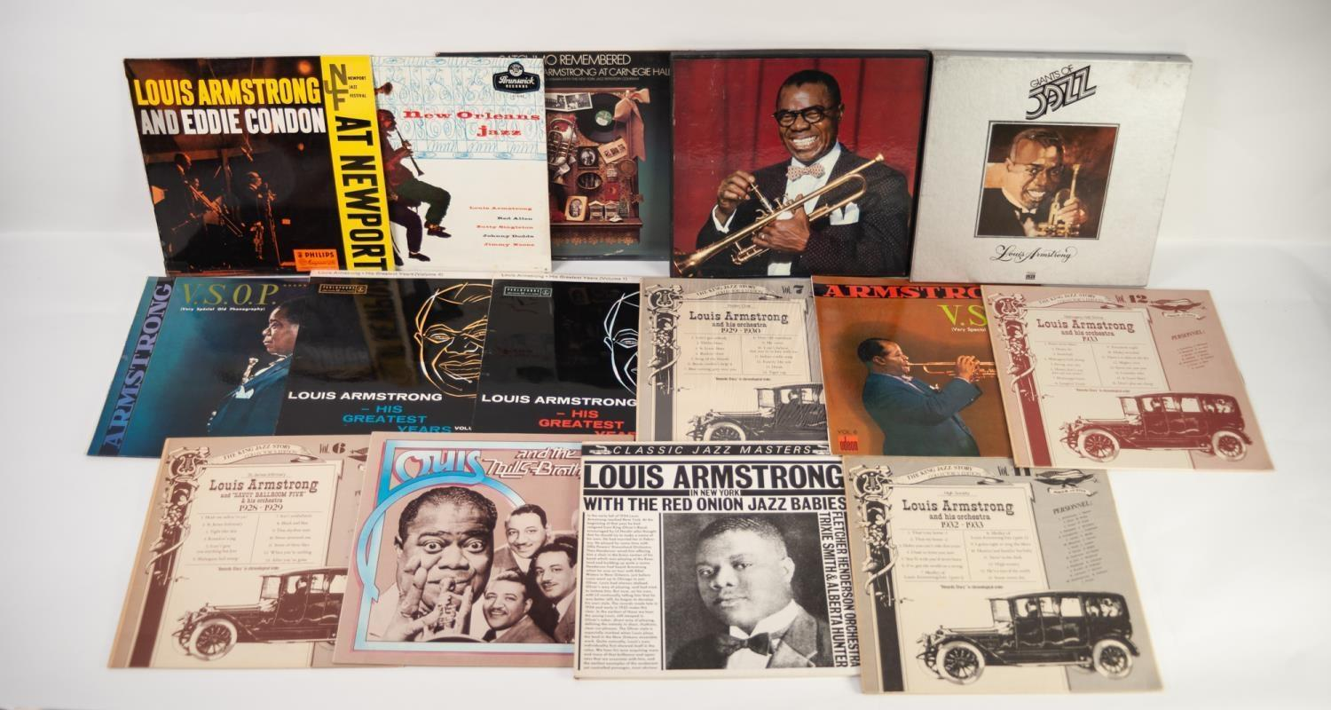 JAZZ, VINYL RECORDS- A IS FOR LOUIS ARMSTRONG (Satchmo) and Eddie Condon-LIVE AT NEWPORT, Philips (