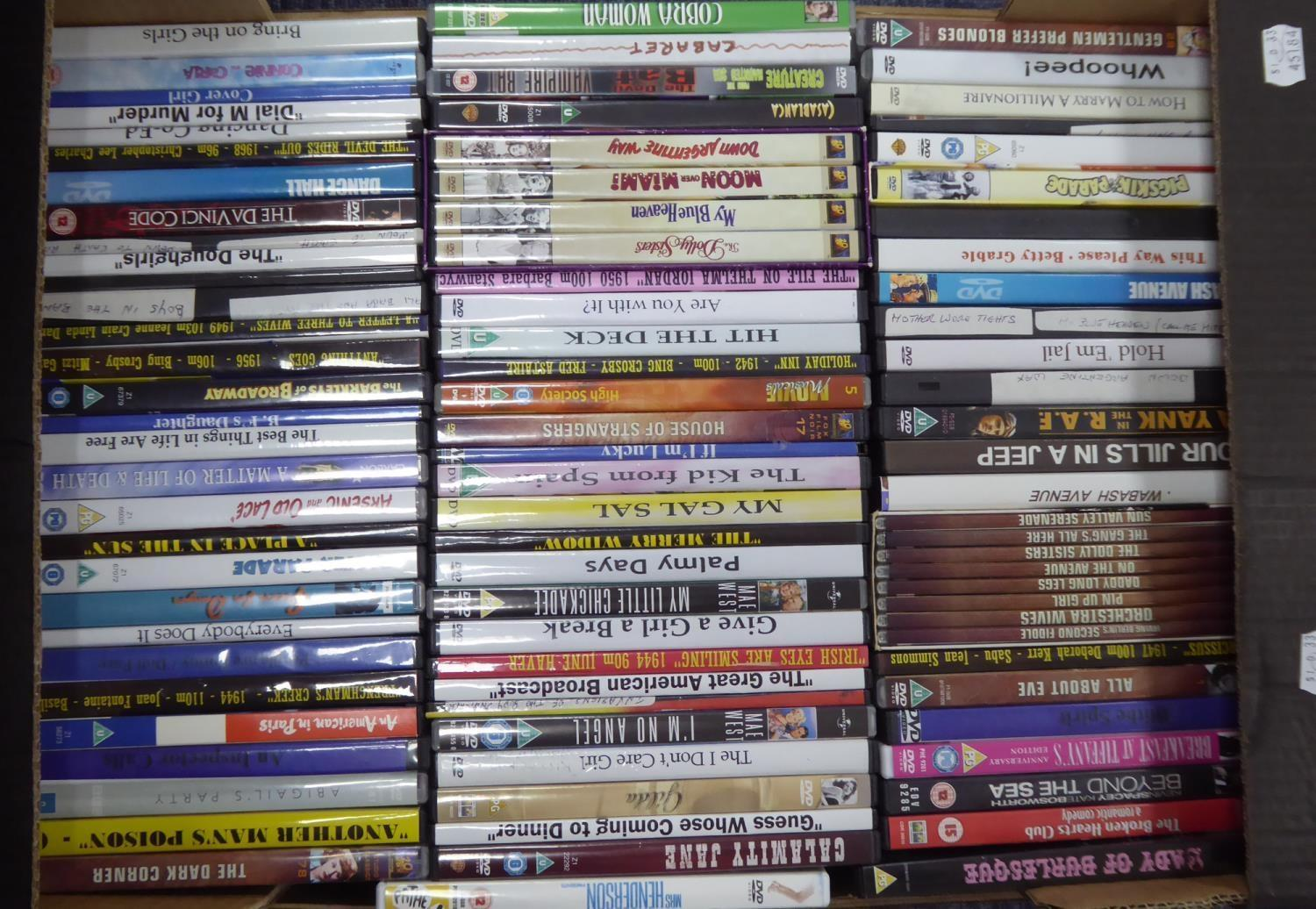 Lot 252 - APPROXIMATELY 90 BETTY GRABLE DVDs (contents on one box)