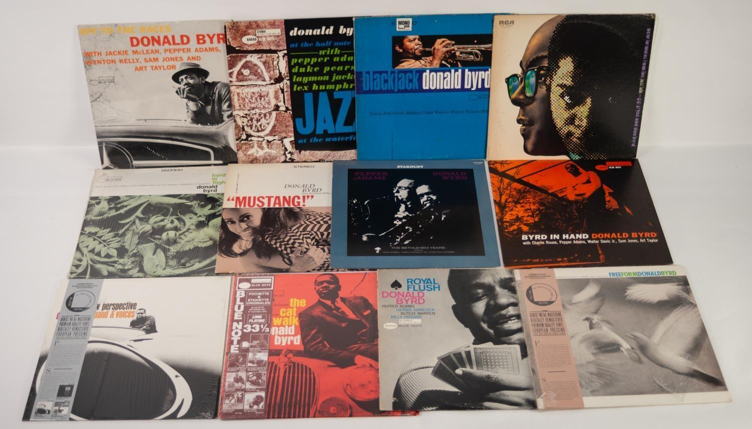 JAZZ, VINYL RECORDS- B IS FOR DONALD BYRD-BYRD IN HAND, Blue Note (BST 84019) reissue. DONALD BYRD-A