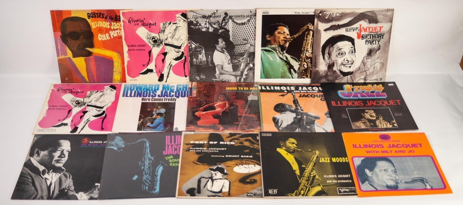 JAZZ, VINYL RECORDS-I IS FOR ILLINOIS JACQUET- GROOVIN WITH JACQUET, Columbia (33cx 10085) clef