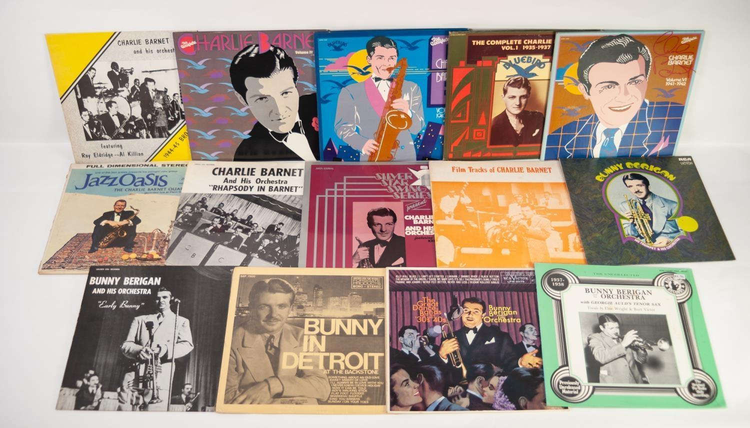 JAZZ, VINYL RECORDS- B IS FOR CHARLIE BARNET and his Orchestra- A small selection of LP albums,
