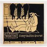 JAZZ, VINYL RECORDS-R IS FOR SONNY ROLLINS QUARTET- WORKTIME, with George Morrow, Max Roach, Ray