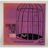 JAZZ, VINYL RECORDS-R IS FOR SONNY ROLLINS QUARTET- ROLLINS PLAYS FOR BIRD, with Kenny Dorham, Max