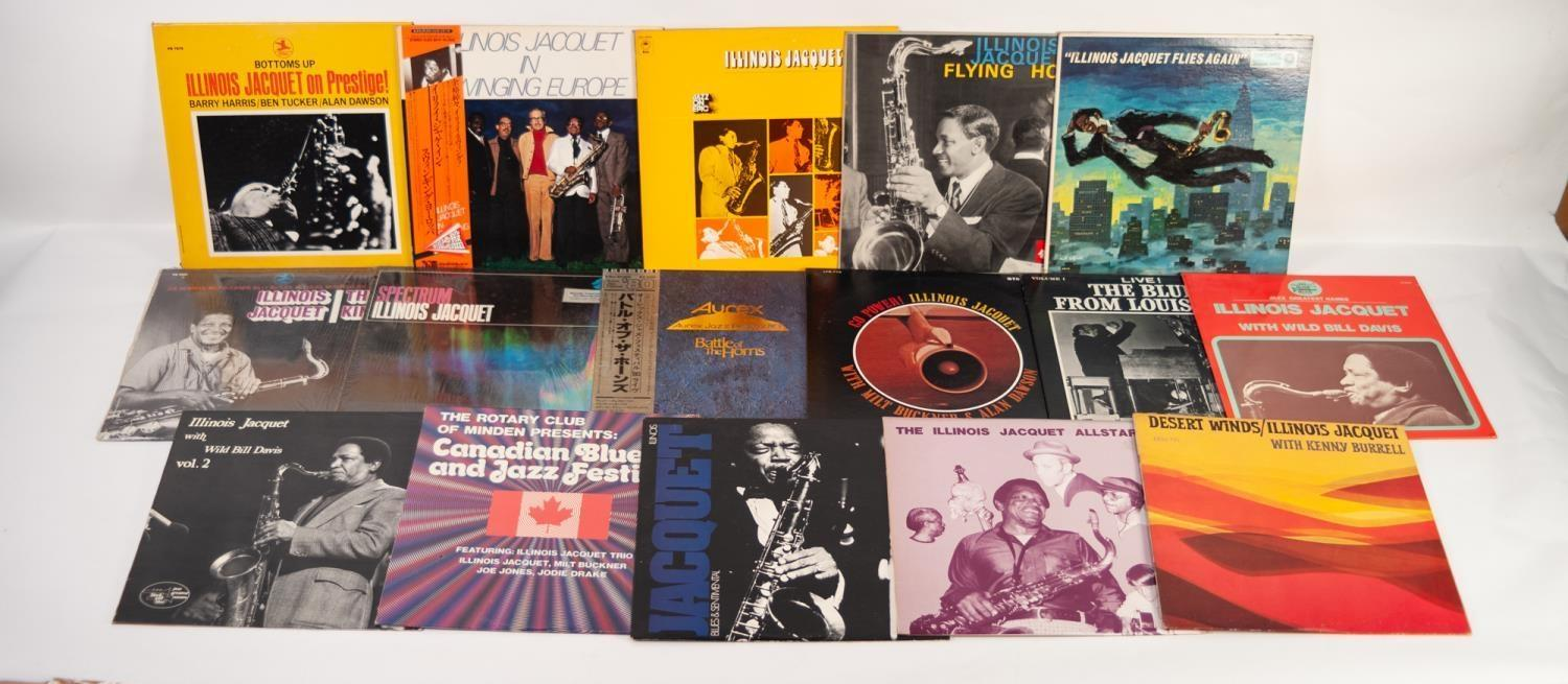 JAZZ, VINYL RECORDS-I IS FOR ILLINOIS JACQUET- GROOVIN WITH JACQUET, Columbia (33cx 10085) clef - Image 2 of 2