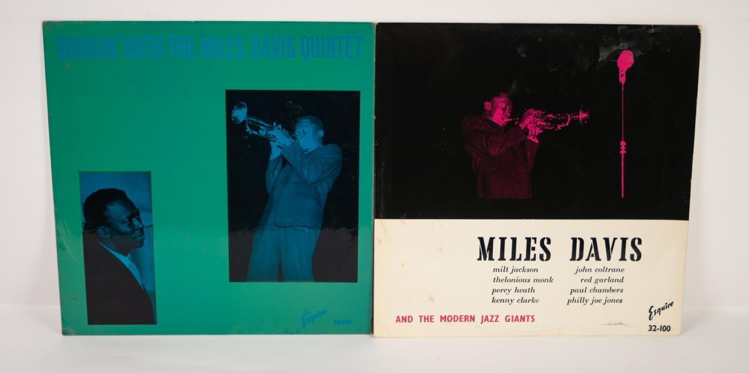 JAZZ, VINYL RECORDS- D IS FOR MILES DAVIS- WORKIN? WITH THE MILES DAVIS QUINTET, Esquire (32-108),